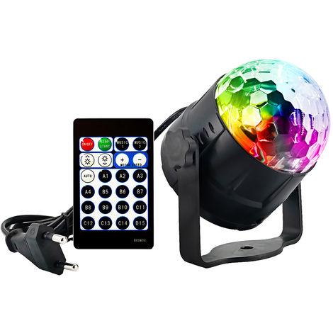 Luces de fiesta, lampara de proyeccion, modo de 15 colores activado por sonido