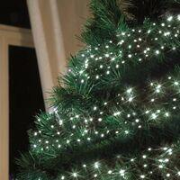 182a23a069a Luces de Navidad exterior LED energía solar batería larga duración panel  100 LED árbol balcón
