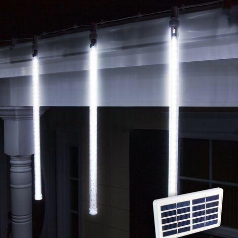 8d2596f5d40 Luces de Navidad Exterior LED Energía Solar Batería Larga Duración Placa  Solar 4 Carámbanos