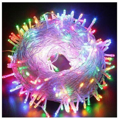 Luces de Navidad Wimex Serie 320 LED Multicolor 24V con cable plateado 4501934X
