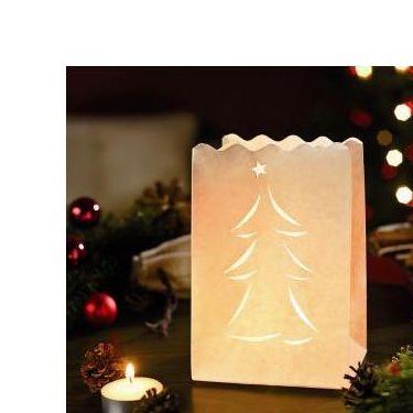 Luces De Papel árbol De Navidad 10ud Pequeñas