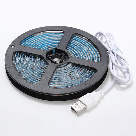 Luces de tira LED USB SMD 3528 3M Fondo de TV de vacaciones no impermeable
