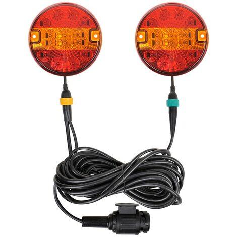 Luces LED de remolque 3F con imanes de 7,5 + 2,5M de cable 13P.