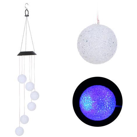 Luces LED RGB para exteriores solares, 2V 0.6W,Esfera de particulas