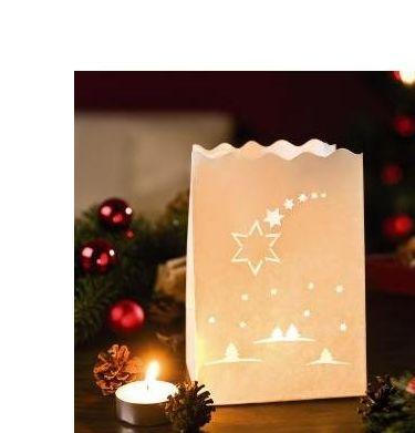 Luces Papel Estrella Navidad 10 Ud. Pequeñas