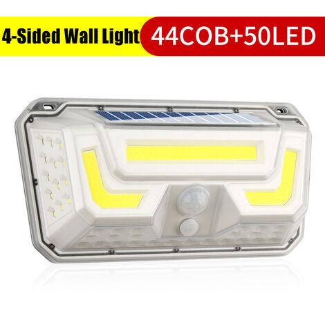 Luces solares Aplique de pared 3 modos Seguridad 270 ° Luz nocturna gran angular 73LED / 44COB + 50LED (44COB y 50LED)
