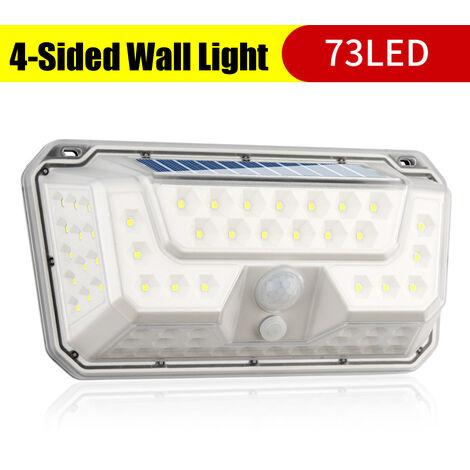 Luces solares Aplique de pared 3 modos Seguridad 270 ° Luz nocturna gran angular 73LED / 44COB + 50LED (73LED)