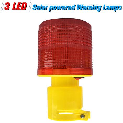 Luces solares En LED rojo de advertencia de luces en un solar de advertencia de obstruccion de la lampara / Faro de luz de las luces / trafico en Atencion / A Grua torre LED / luz rojo azul marino amarillo