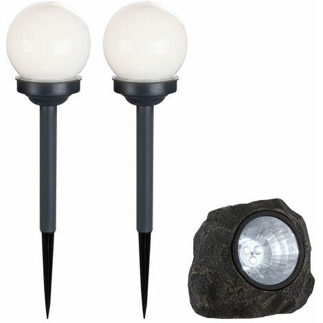 Luces solares LED de alta calidad iluminación exterior lámparas de bola decoración de piedra focos IP44
