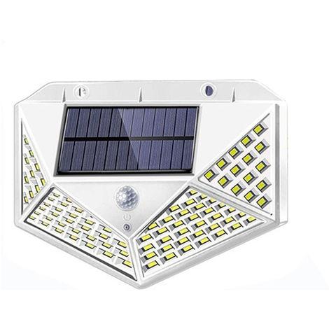 Luces solares, luces de sensor de movimiento solar al aire libre, 1200 Mah,BLANCO