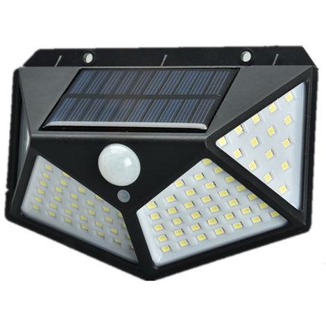 Luces solares, luces de sensor de movimiento solar al aire libre, 1200 Mah,NEGRO