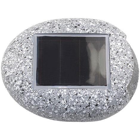 Luces solares para jardin, luz de roca en forma de piedra al aire libre, 1 piezas