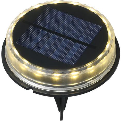 Luces solares para terraza con estacas LED Luz de suelo Exterior IP65 Iluminacion de paisaje resistente al agua para el suelo de la escalera del muelle