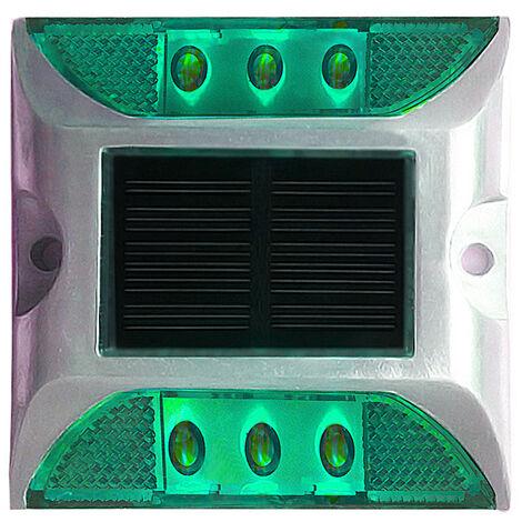 Luces solares para terraza Luz de entrada de 6 LED,Verde, paquete de 1