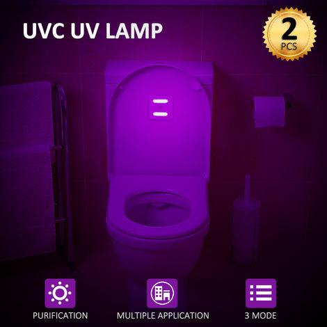 Luces UV, Deteccion de movimiento, 3 modos, Bombilla LED de noche, para armario