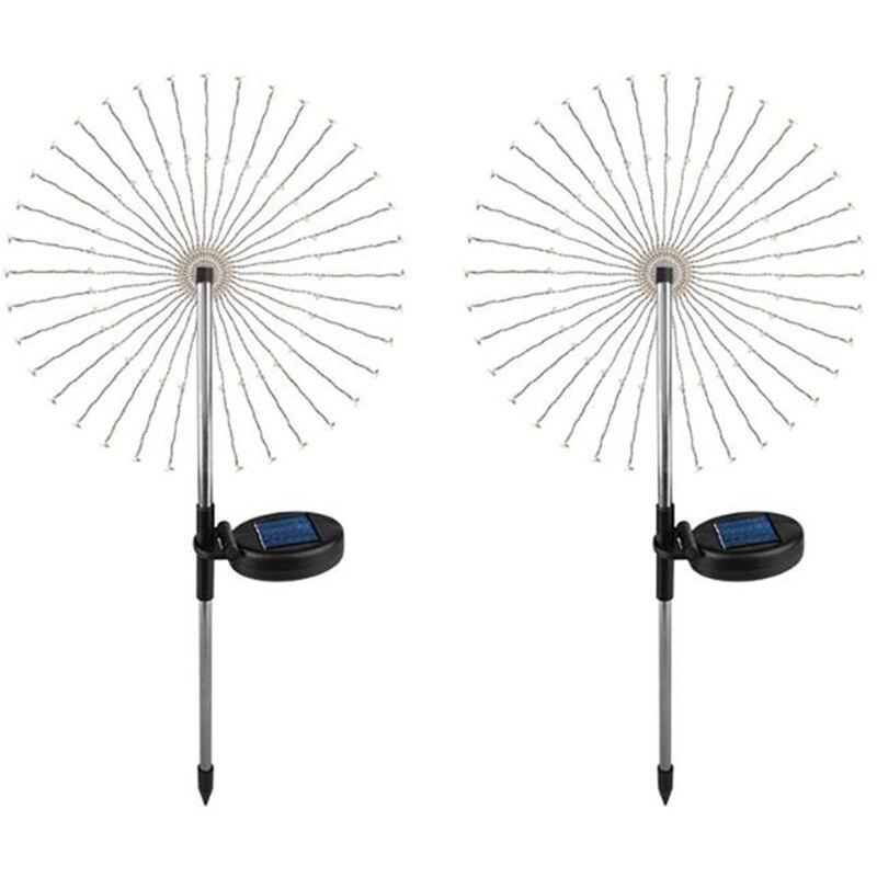 luci solari ellittiche fuochi d'artificio 150L-10CM- tre colori due funzioni di tenuta 8 - ASUPERMALL
