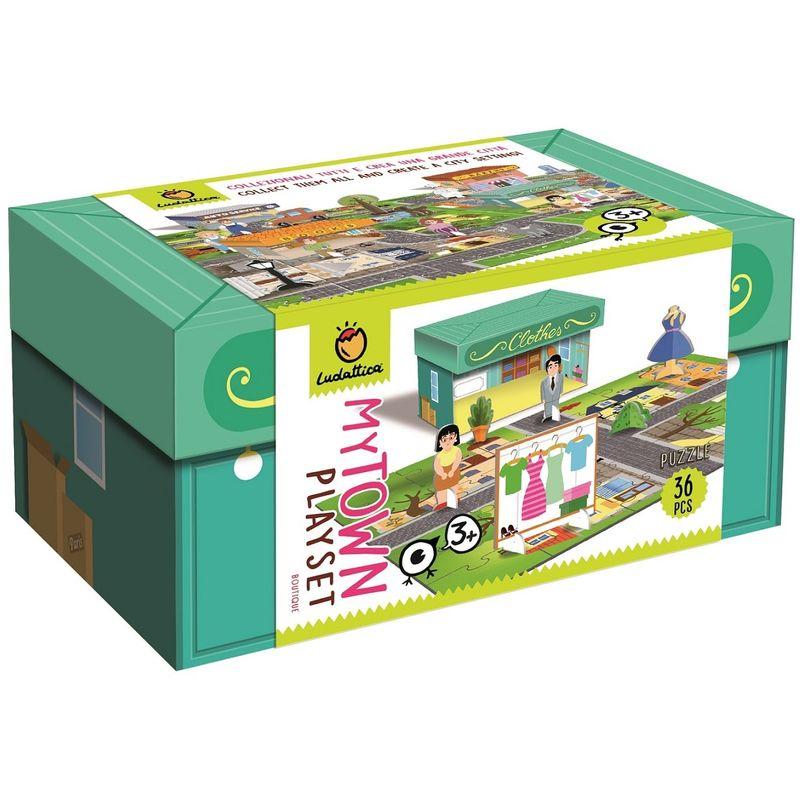 Ludattica Playset Puzzle 36 Pezzi My Town Boutique Gioco Bambini