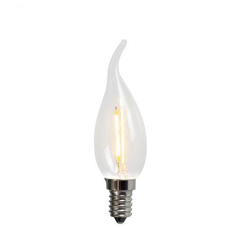 LUEDD Bombilla de vela E14 filamento LED C35T 1W 100LM 2200K