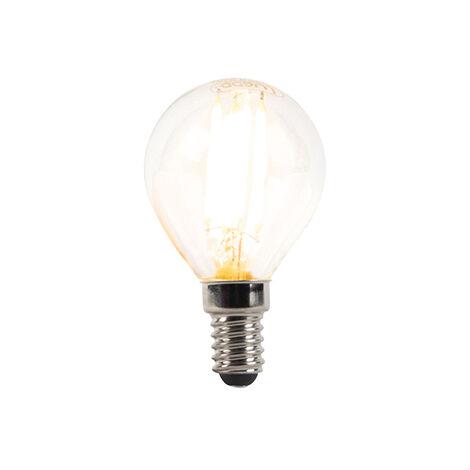 LUEDD Bombilla E14 filamento regulable LED P45 3W 300lm 2700K