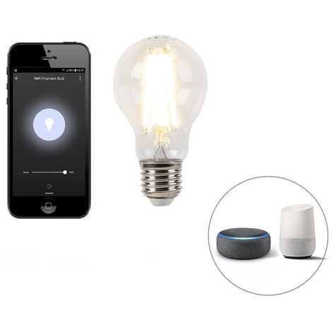 LUEDD Bombilla E27 LED regulable Wifi Smart app 7W 800lm 2700K