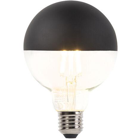 LUEDD Bombilla E27 regulable LED filamento cúpula negra G95 400lm 2700K