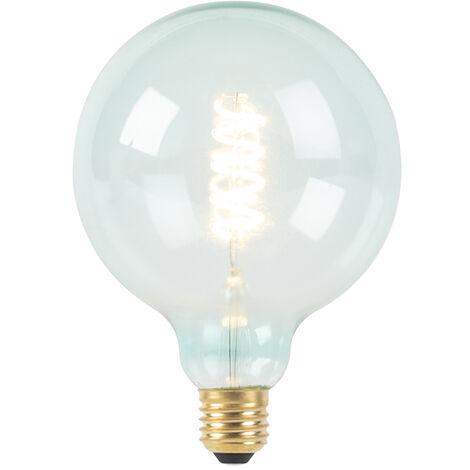 LUEDD Bombilla filamento espiral azul LED regulable E27 G125 200lm 2100K