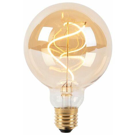 LUEDD Bombilla filamento espiral LED regulable E27 G95 goldline 200lm 2100K