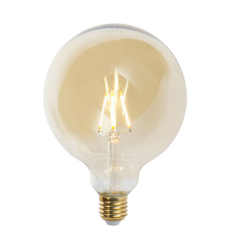 LUEDD Bombilla filamento globo LED regulable E27 G125 goldline 5W 360lm 2200K