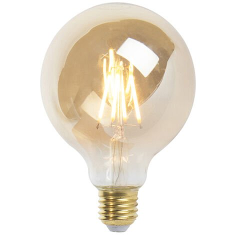 LUEDD Bombilla filamento globo LED regulable E27 G95 goldline 5W 360lm 2200K