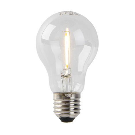 LUEDD Bombilla filamento LED E27 A60 1W 80lm 2200K