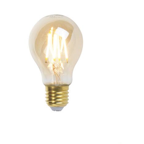 LUEDD Bombilla filamento LED regulable E27 A60 goldline 5W 360lm 2200K