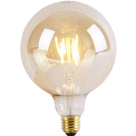 LUEDD Bombilla LED E27 regulable 3 niveles G125 Goldline 5W 2200K
