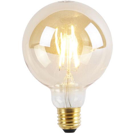 LUEDD Bombilla LED E27 regulable 3 niveles G95 Goldline 5W 360lm 2200K