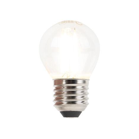LUEDD Bombilla LED E27 regulable bola incandescente 3W 250lm 2700K
