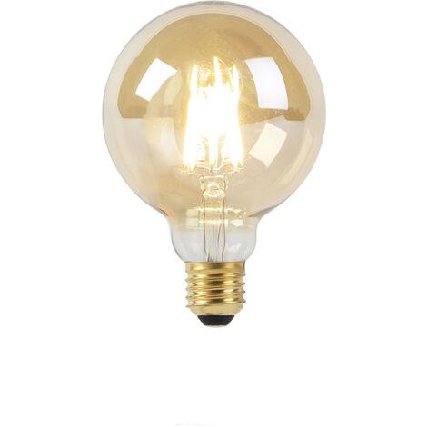 LUEDD Bombilla LED G95 E27 8W 2000-2600K filamento GOLDLINE