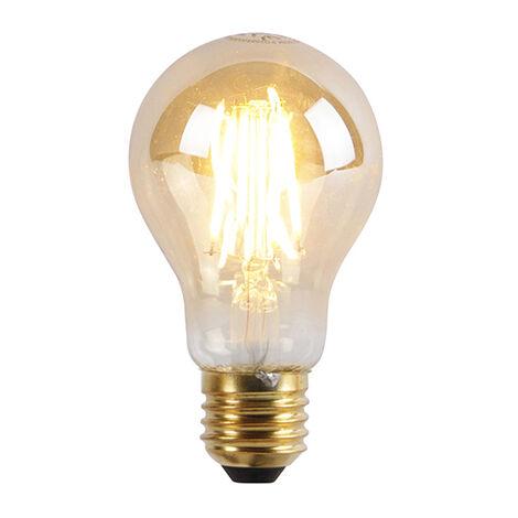 LUEDD Bombilla LED regulable E27 3 niveles A60 goldline 5W 550lm 2200K