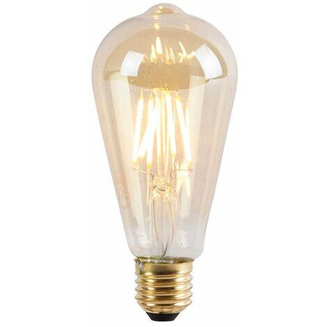LUEDD Bombilla LED regulable E27 3 niveles ST64 goldline 5W 550 lm 2200K