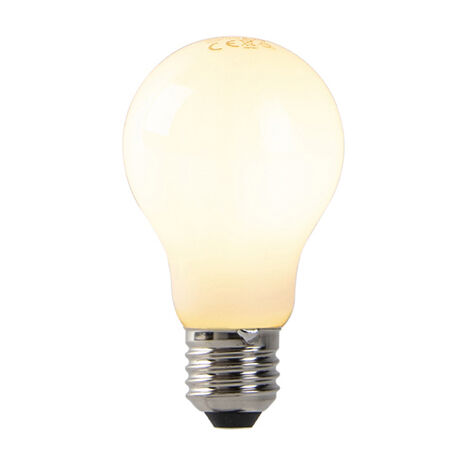 LUEDD Bombilla LED translúcida regulable E27 A60 7W 680lm 2200K