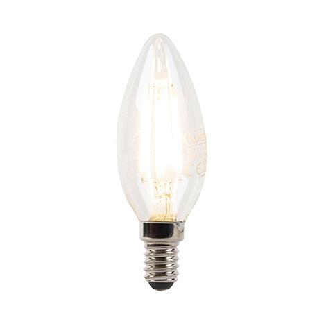 LUEDD Bombilla vela filamento LED regulable E14 B35 3W 240lm 2700K