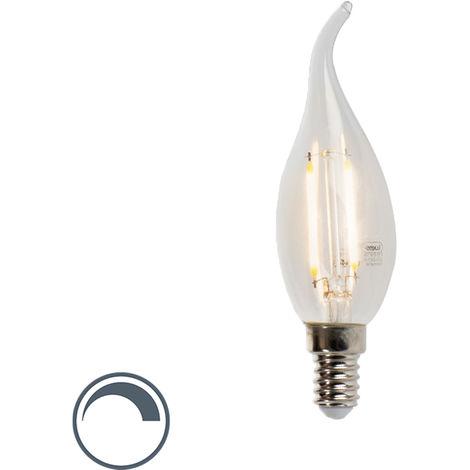 LUEDD Bombilla vela punta filamento LED regulable E14 250lm 2700K