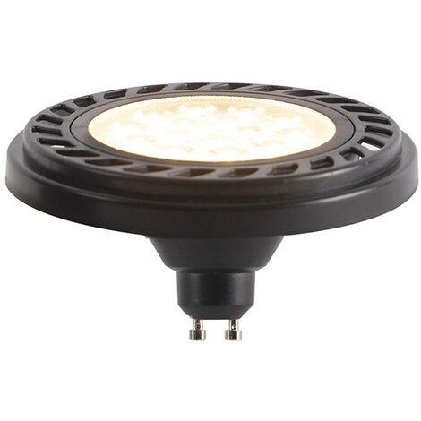LUEDD GU10 dimbare LED AR111 zwart 9W 900 lm 2700K