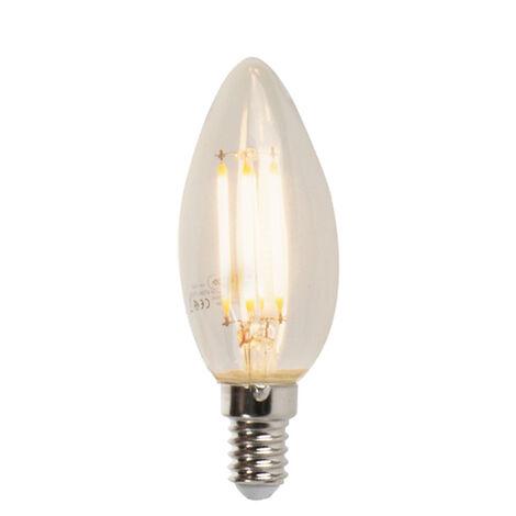 LUEDD Lámpara de vela de filamento LED regulable E14 B35 5W 470 lm 2700K