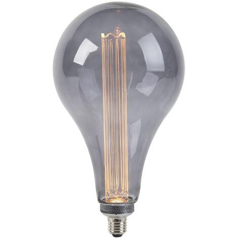 LUEDD Lámpara LED A165 E27 3.5W 2000K ahumado regulable