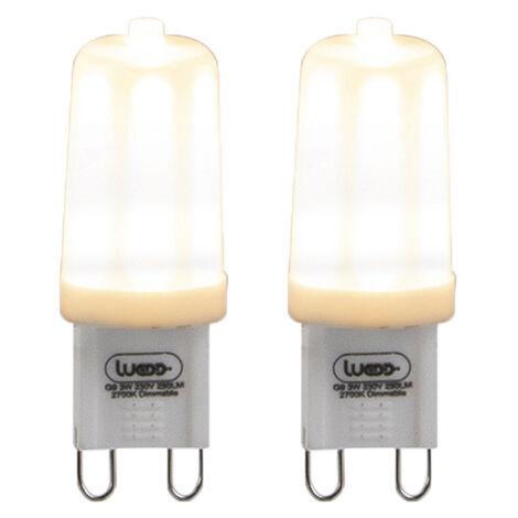 LUEDD Set 2 bombillas LED regulables G9 3W 280lm 2700K