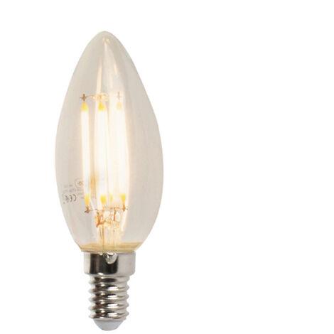 LUEDD Set 3 bombilla vela filamento regulables LED E14 B35 5W 470lm 2700K