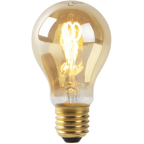 LUEDD Set 3 bombillas E27 filamento espiral dorado LED A60 2W 90 lm 2200K