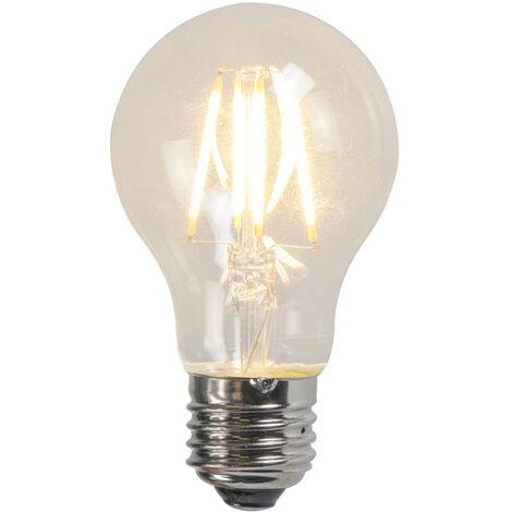 LUEDD Set 3 bombillas LED filamento A60 4W 2700K transparente