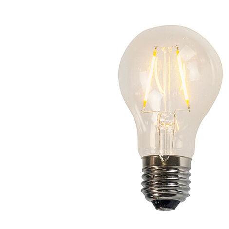 LUEDD Set 3 bombillas LED filamento transparente A60 2W 2200K