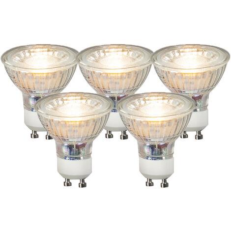 LUEDD Set 5 bombillas GU10 LED COB 3W 230LM 3000K