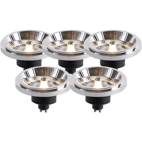 LUEDD Set 5 bombillas LED AR111 GU10 12W 2700K regulables